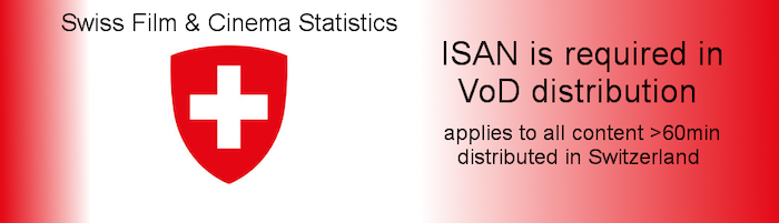 ISAN is required for VoD distribution in Switzerland